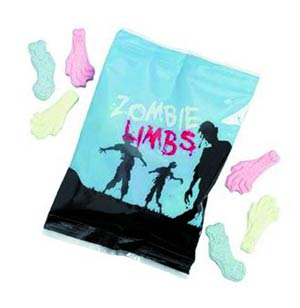 Zombie Limbs Candy Assortment Case