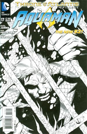 Aquaman Vol 5 #17 Incentive Paul Pelletier Sketch Cover (Throne Of Atlantis Epilogue)