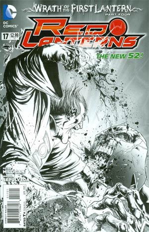 Red Lanterns #17 Incentive Miguel Sepulveda Sketch Cover (Wrath Of The First Lantern Tie-In)