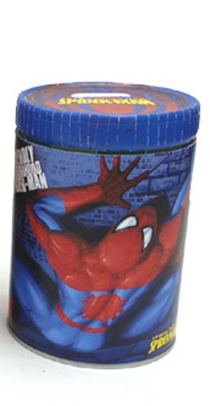 Spider-Man Round Tin Coin Bank - Blue
