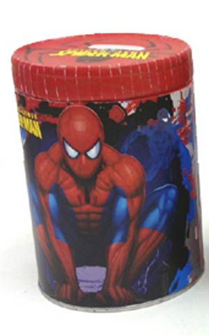 Spider-Man Round Tin Coin Bank - Red