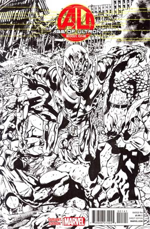Age Of Ultron #1 Incentive Bryan Hitch Sketch Cover