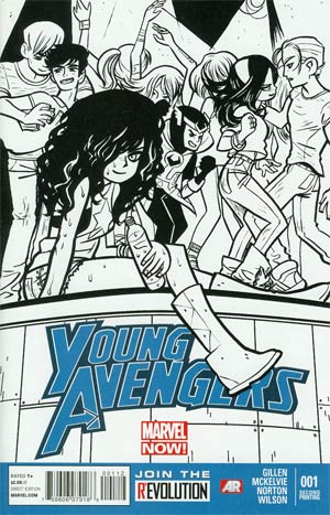 Young Avengers Vol 2 #1 2nd Ptg Bryan Lee O Malley Sketch Variant Cover