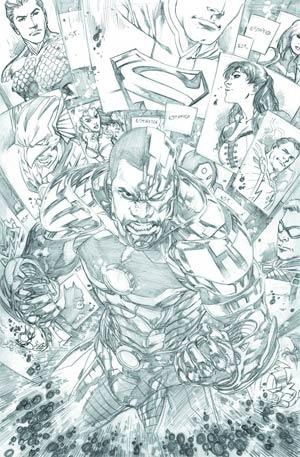 Justice League Vol 2 #18 Incentive Ivan Reis Sketch Cover