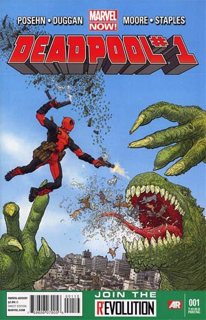 Deadpool Vol 4 #1 3rd Ptg Geof Darrow Variant Cover