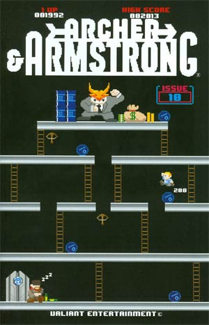 Archer & Armstrong Vol 2 #10 Cover B Variant 8-Bit Cover