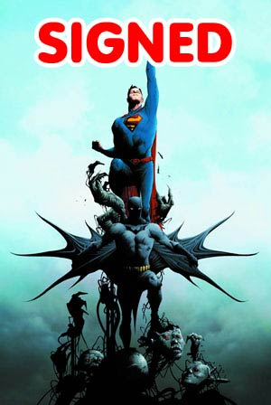 Batman Superman #1 Cover J DF Silver Signature Series Signed By Jae Lee