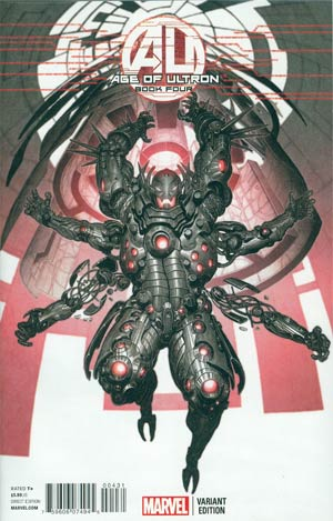 Age Of Ultron #4 Incentive Rock-He Kim Ultron Variant Cover
