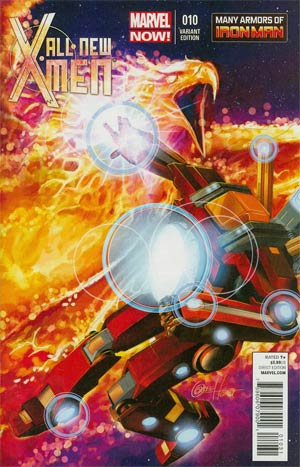 All-New X-Men #10 Incentive Many Armors Of Iron Man Variant Cover