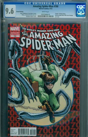 Amazing Spider-Man Vol 2 #700 2nd Ptg Original Humberto Ramos Variant Cover CGC 9.6