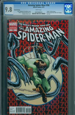 Amazing Spider-Man Vol 2 #700 2nd Ptg Original Humberto Ramos Variant Cover CGC 9.8