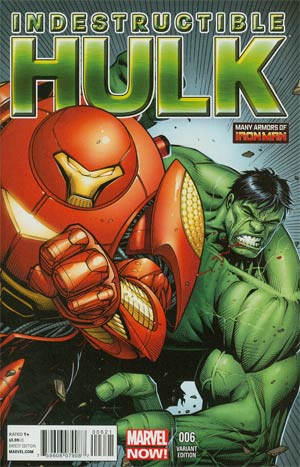 Indestructible Hulk #6 Incentive Many Armors Of Iron Man Variant Cover