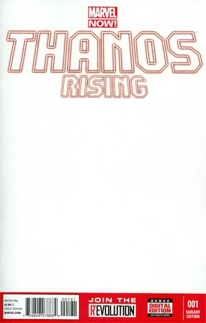 Thanos Rising #1 Variant Blank Cover