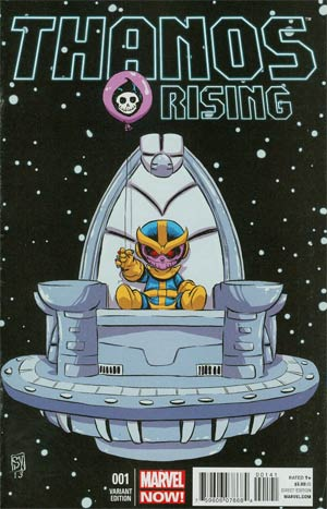 Thanos Rising #1 Variant Skottie Young Baby Cover