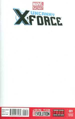 Uncanny X-Force Vol 2 #1 Variant Blank Cover