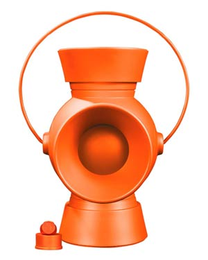 Orange Lantern 1/1 Scale Power Battery And Ring Prop Replica