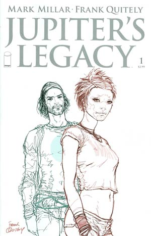 Jupiters Legacy #1 Incentive Frank Quitely Sketch Cover