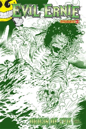 Evil Ernie Vol 3 #3 High-End Ardian Syaf Chaotic Green Ultra-Limited Cover (ONLY 25 COPIES IN EXISTENCE!)