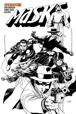 Masks #6 High-End Sean Chen Black & White Ultra-Limited Cover (ONLY 10 COPIES IN EXISTENCE!)