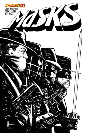 Masks #2 High-End Howard Chaykin Black & White Ultra-Limited Cover (ONLY 100 COPIES IN EXISTENCE!)