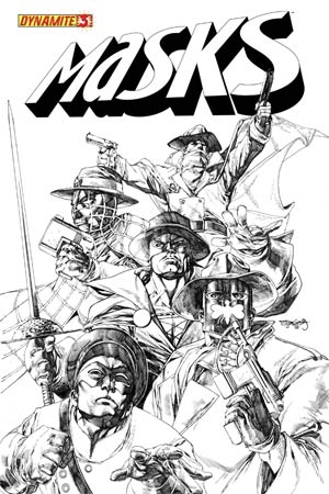 Masks #3 High-End Stephen Segovia Black & White Ultra-Limited Cover (ONLY 100 COPIES IN EXISTENCE!)
