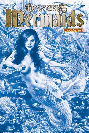 Damsels Mermaids #1 High-End Jay Anacleto Ocean Blue Ultra-Limited Cover (ONLY 50 COPIES IN EXISTENCE!)