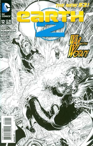 Earth 2 #12 Incentive Brett Booth Sketch Cover