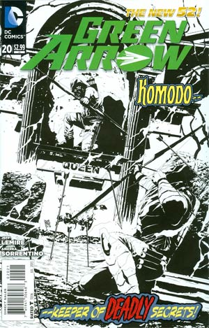 Green Arrow Vol 6 #20 Incentive Andrea Sorrentino Sketch Cover