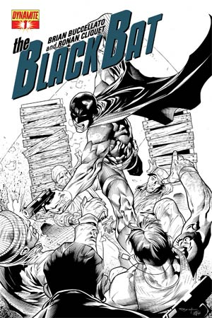 Black Bat #1 Incentive Ardian Syaf Black & White Cover