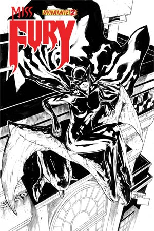 Miss Fury Vol 2 #2 Incentive Billy Tan Black & White Cover