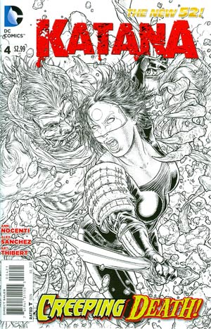Katana #4 Incentive Juan Jose Ryp Sketch Cover