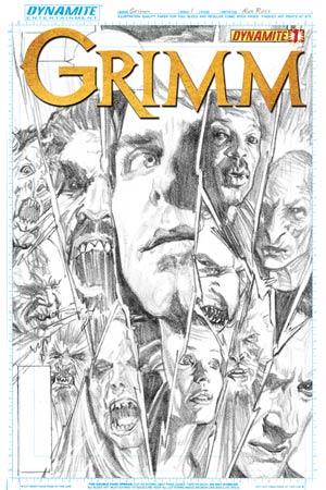 Grimm #1 Incentive Alex Ross Black & White Cover