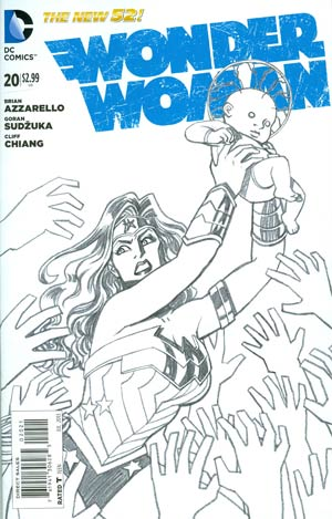 Wonder Woman Vol 4 #20 Incentive Cliff Chiang Sketch Cover