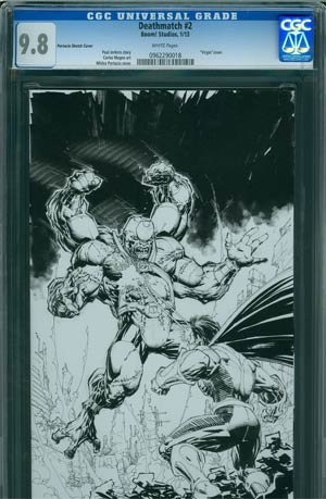 Deathmatch #2 Incentive Whilce Portacio Virgin Sketch Cover CGC 9.8