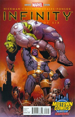 Infinity #1 Cover K Midtown Exclusive Phil Jimenez Variant Cover