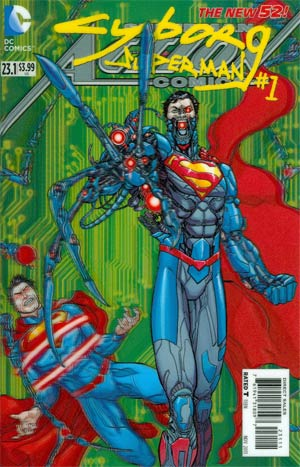 Action Comics Vol 2 #23.1 Cyborg Superman Cover A 1st Ptg 3D Motion Cover