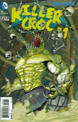 Batman And Robin Vol 2 #23.4 Killer Croc Cover A 3D Motion Cover