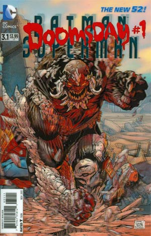 Batman Superman #3.1 Doomsday Cover A 1st Ptg 3D Motion Cover