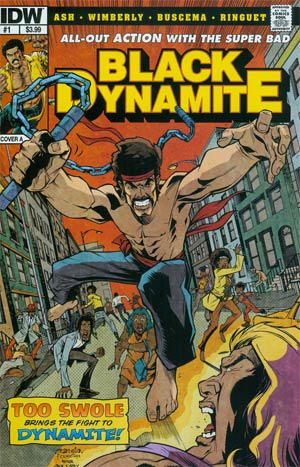 Black Dynamite #1 Cover A Regular Dave Wilkins Cover