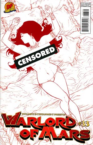 Warlord Of Mars #33 Cover D DF Exclusive Carlos Rafael Martian Red Risque Variant Cover