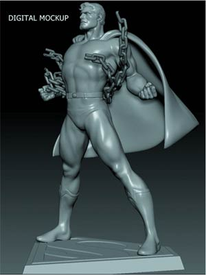 Superman 1/8 Scale Snap Model Kit