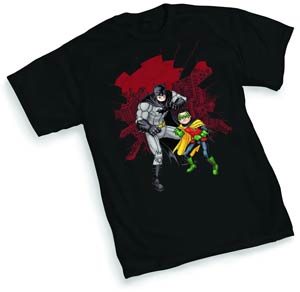 Batman & Robin Shatter By Chris Burnham T-Shirt Large