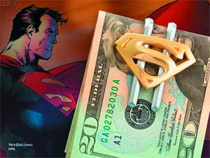 Superman Shield Gold-Plated Money Clip
