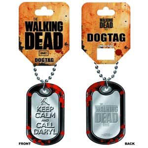 Walking Dead Dog Tag - Keep Calm And Call Daryl