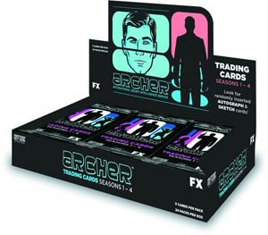 Archer Season 1-4 Trading Cards Box