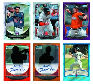 Bowman 2013 Draft Picks & Prospects Baseball Trading Cards Box