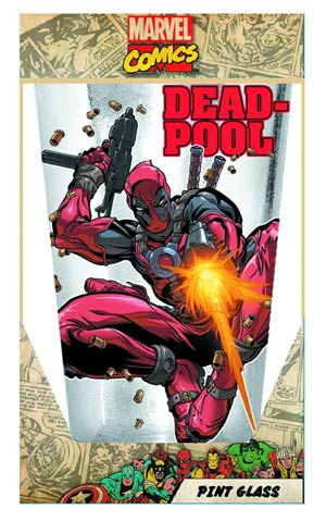 Deadpool Bullets 16-Ounce Pub Glass