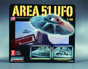 Lindberg Area 51 UFO 1/48 Scale Model Kit