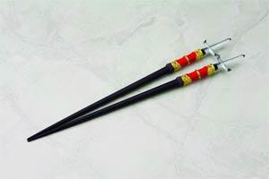 Samurai Chopsticks Set - Toshiie Maeda & Matsu Maeda