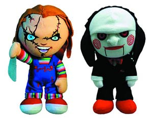 DO NOT USE (DNO) Cinema Of Fear Chucky & Saw 8-Inch Plush Assortment Case
